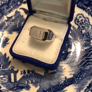 💛 Sterling Silver Monogram Men's Ring